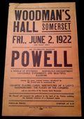 Powell Handbill 1922