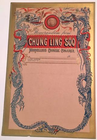 Chung Ling Soo memo letterhead