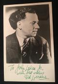 Sid Lorraine inscribed photo