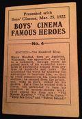 Houdini Cinema Card back