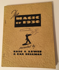 Magic of 1936 Eric Lewis